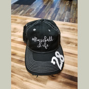 #Baseball Life Distressed Cap