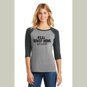 Real Rowdy Moms of Baseball Raglan Tee